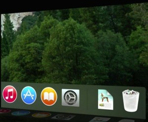 A look at how icons in the Dock appear in OS X Yosemite