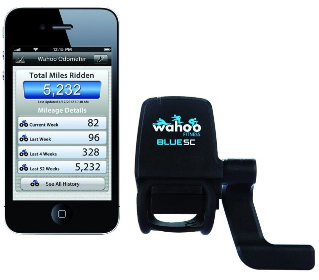 A lot of wearable wrist band fitness trackers aren't great at measuring cycling compared to running, so if you're putting together a regimen based on exercise that is easy to quantify, you may be tempted to put your bike away. Not so fast! The Wahoo Blue SC attaches to your bicycle and then works with your favorite cycling app to track your cycling speed, cadence, and distance on your iPhone while you ride. Even better, its internal odometer can break down the lifetime mileage ridden on your bike by week, month and even year. So get peddling.