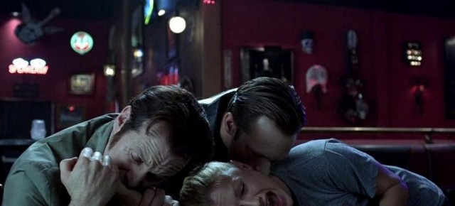 Russell and Eric chow down on Sookie, who's feeling like vampire crack.