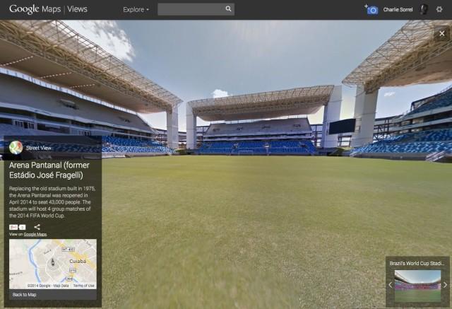 Street View stadium tour