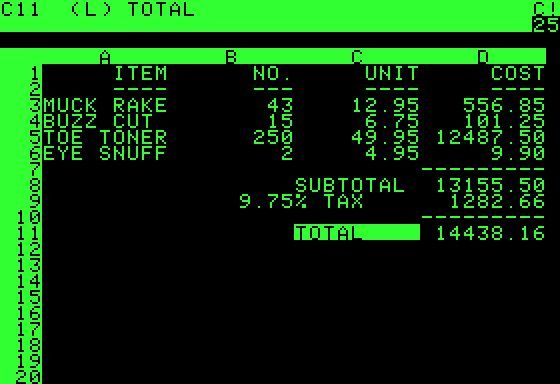VisiCalc, the world's first