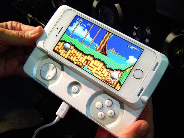 This turns your iPhone into a slick little portable gaming device, like the Sony XPeria or PSP Go.