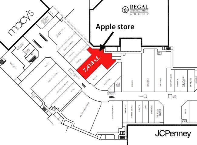 Solomon Pond Mall Map Exact location of Apple's new Marlborough, Mass store revealed