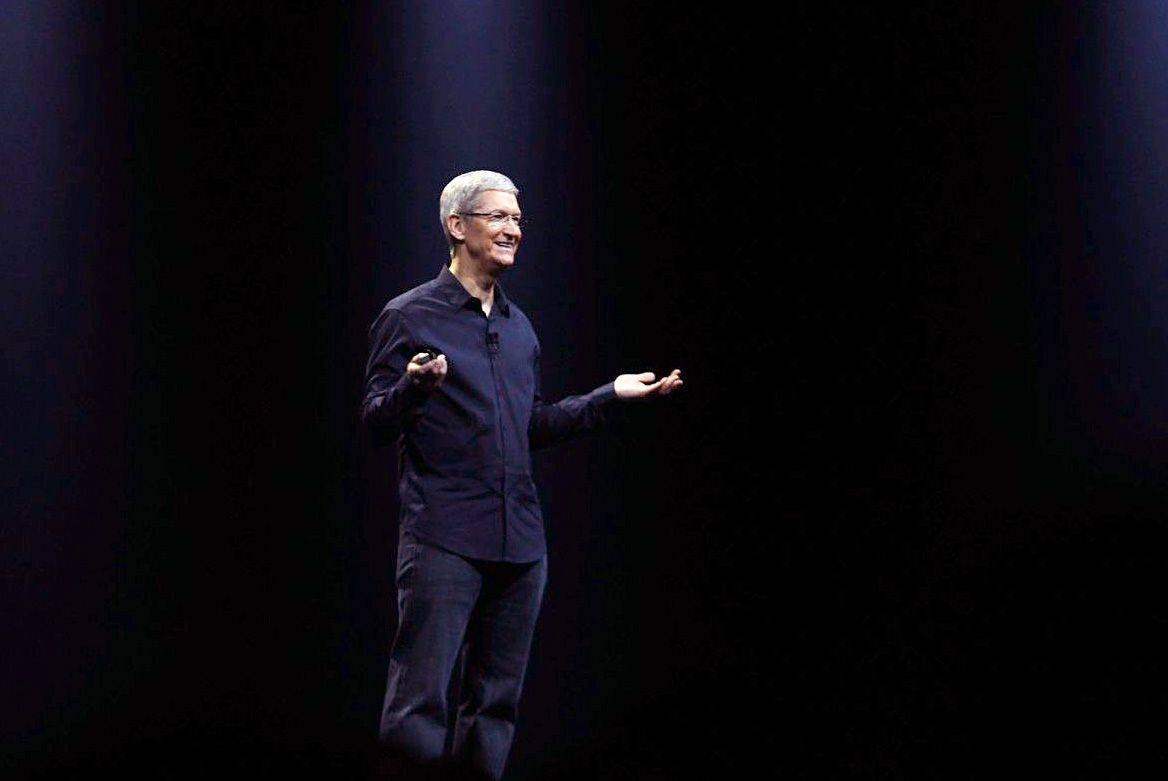 Tim Cook onstage at the 2014 WWDC. Photo: Roberto Baldwin/The Next Web