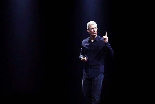 Time Cook onstage at WWDC 2014. Photo: Roberto Baldwin/The Next Web