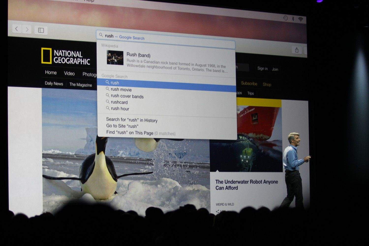 The new Spotlight search in Yosemite (photo: Roberto Baldwin/ The Next Web)