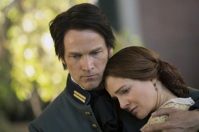 Bill promises his bride that he'll survive the war. Photo: John P. Johnson/ HBO