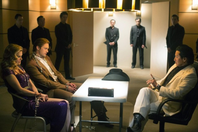 The Yakuza confront Eric and Pam. Photo: John P. Johnson/ HBO