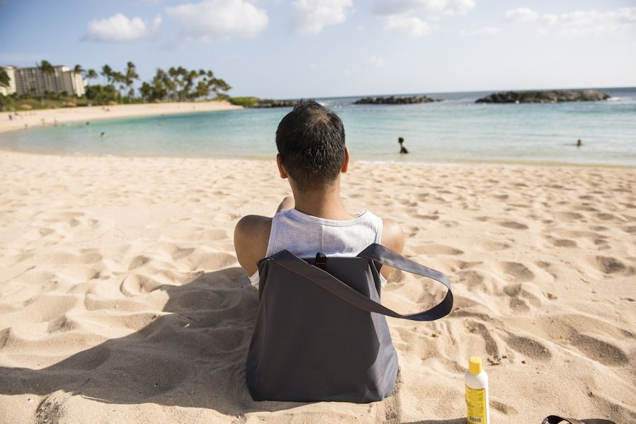 Even the BeachSafe won't save you if you leave it alone on the beaches of Barcelona, but it's still a pretty neat idea. It's a tote bag that folds out to make a seat for sitting on the sand. Slide your towel out of its compartment, fill that compartment with sand (for ballast) using the built-in scoop and secure the bag's opening with a combination lock. It won't stop anyone from making off with the whole thing, but I like the idea of a combo bag/seat, whether it's safe or not. €60