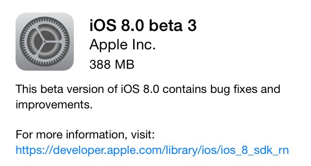 iOS8beta3