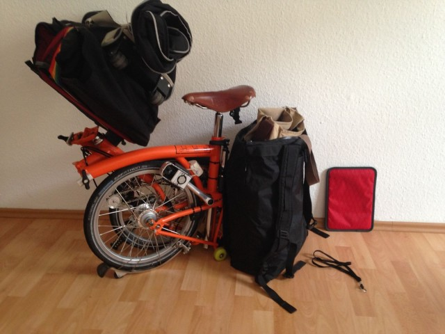 Everything for a couple weeks away, including transport.