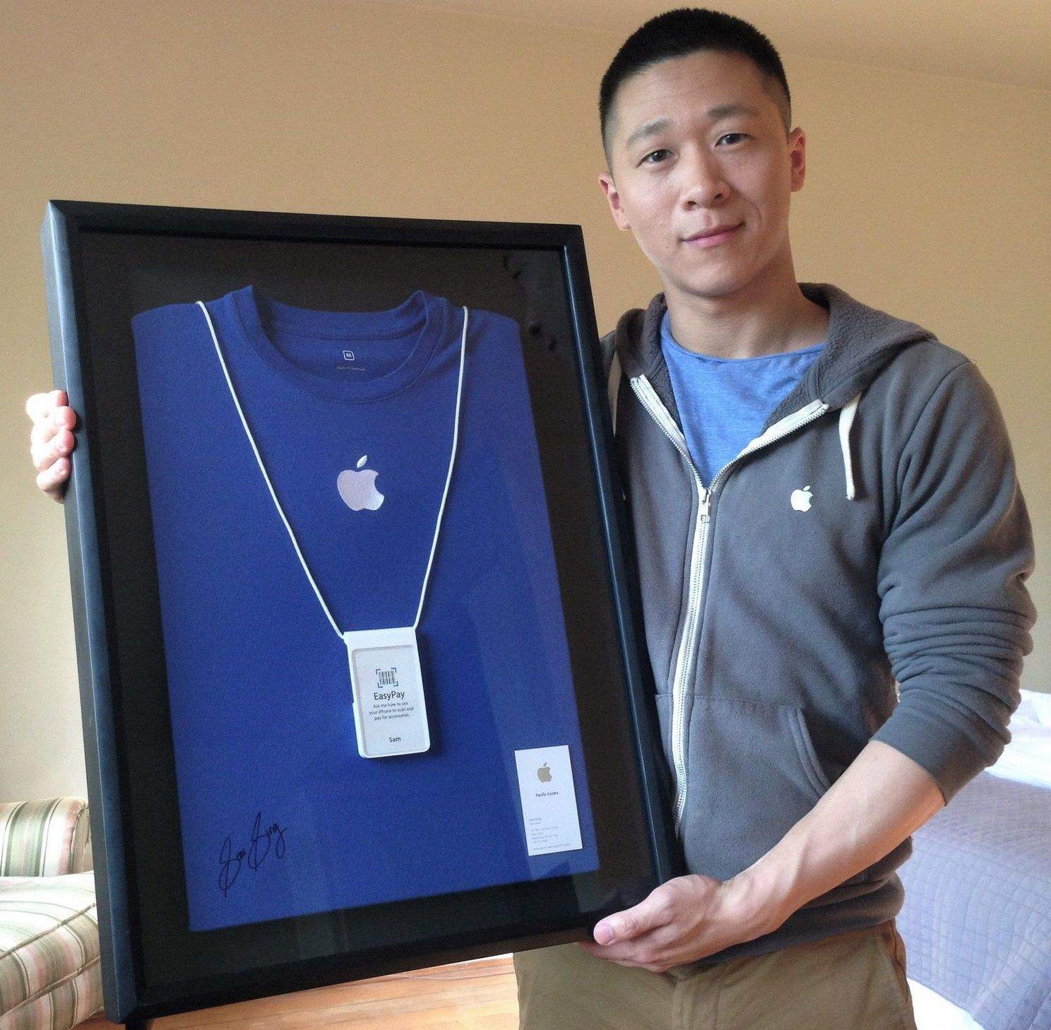 When your name is the oh-so-ironic Sam Sung, it's quite frankly amazing you were ever allowed in for an Apple Store interview to begin with.  Sung was, however, and when he finally left the job earlier this year, he auctioned off his work shirt, badge and business card to raise money for charity. The eBay auction ended at $2,653.Photo: Sam Sung