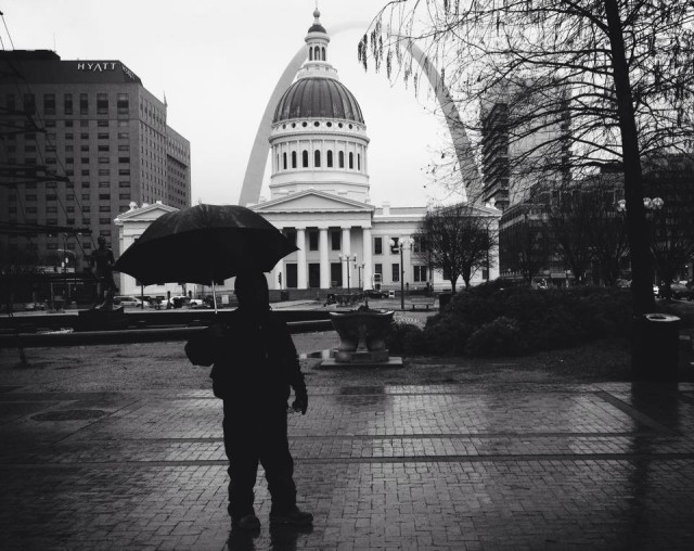 St Louis in the rain
