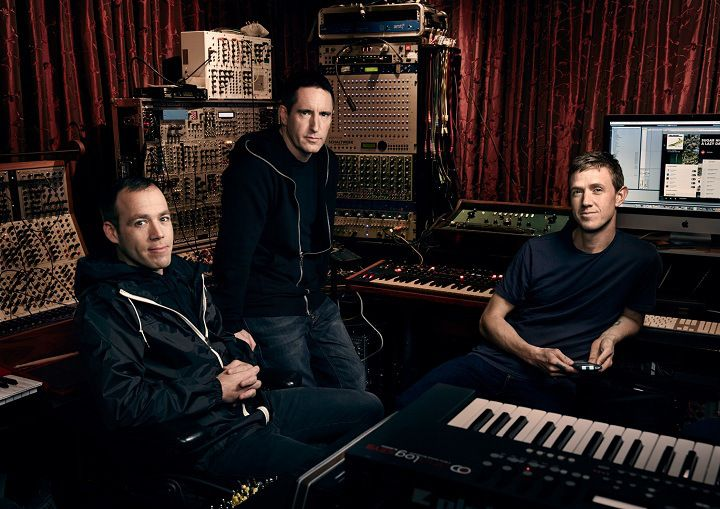 Beats Electronics president Luke Wood (left), Beats Music exec Trent Reznor (center), and Ian Rogers. Photo by Art Streiber for Time