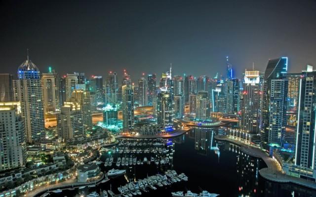 The futuristic skyline of Dubai.