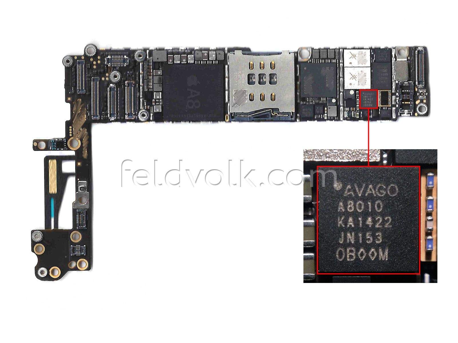 leaked iphone 6 motherboard confirms nfc. Black Bedroom Furniture Sets. Home Design Ideas