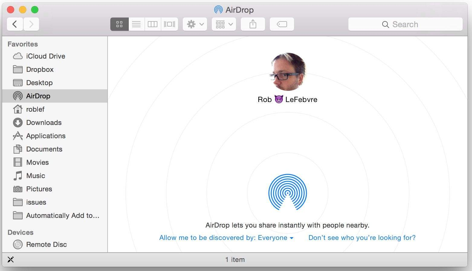 Use airdrop to share files between os x yosemite and ios 8 cult screengrab rob lefebvrecult of mac ccuart Image collections