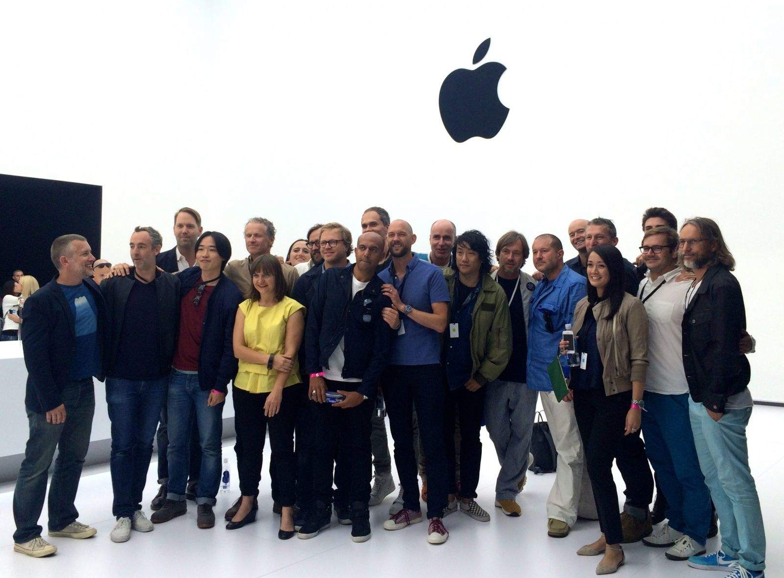 Apple's Industrial Design team at the Apple Watch unveiling.