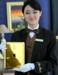 Every room at Dubai's Burj Al Arab includes a complimentary gold iPad. So long as you're a guest. (Photo: Stuff India)