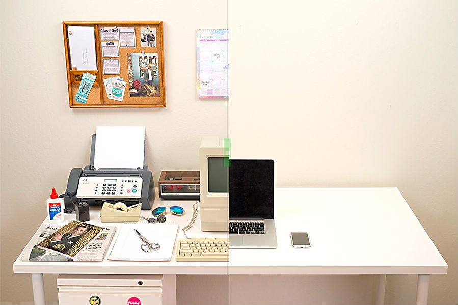 Before and after photos show the Mac's radical reinvention of our desktops. Image courtesy BestReviews