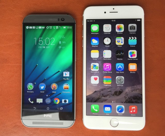 Htc one m8 vs iphone 6 plus