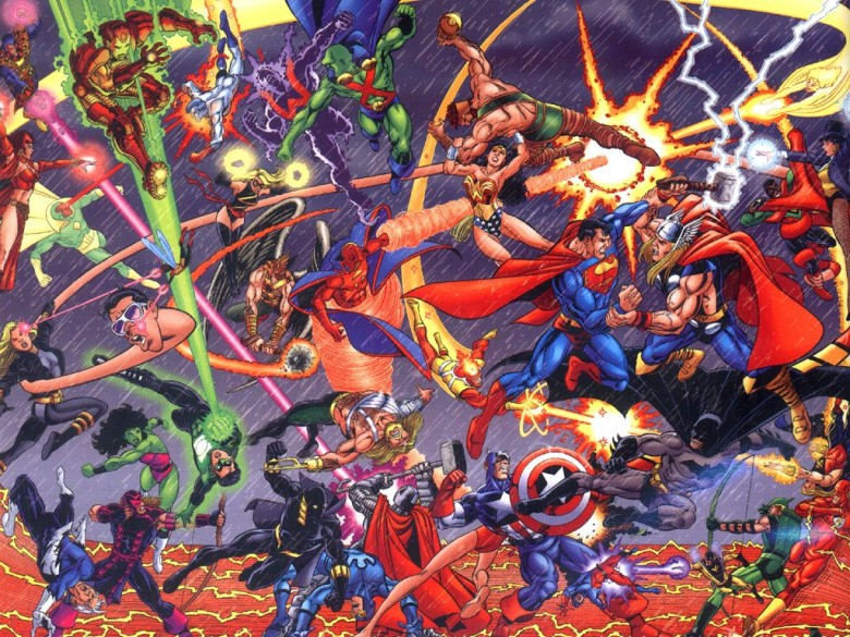 In the works since 1979, a JLA/Avengers crossover finally happened in 2003, bringing together the World's Mightiest Heroes and DC's Justice League of America. With the two franchises set to collide (sort of) when Avengers: Age of Ultron and Batman v Superman: Dawn of Justice finally make it to theaters, the idea of mashing up both series seems unthinkable at present.Looking longer-term, though, who wouldn't want to Batman face off against Iron Man, or Superman with Captain America? The only losers would be the poor legal teams who had to work out the agreement for it to happen.Picture: DC Comics/Marvel Comics