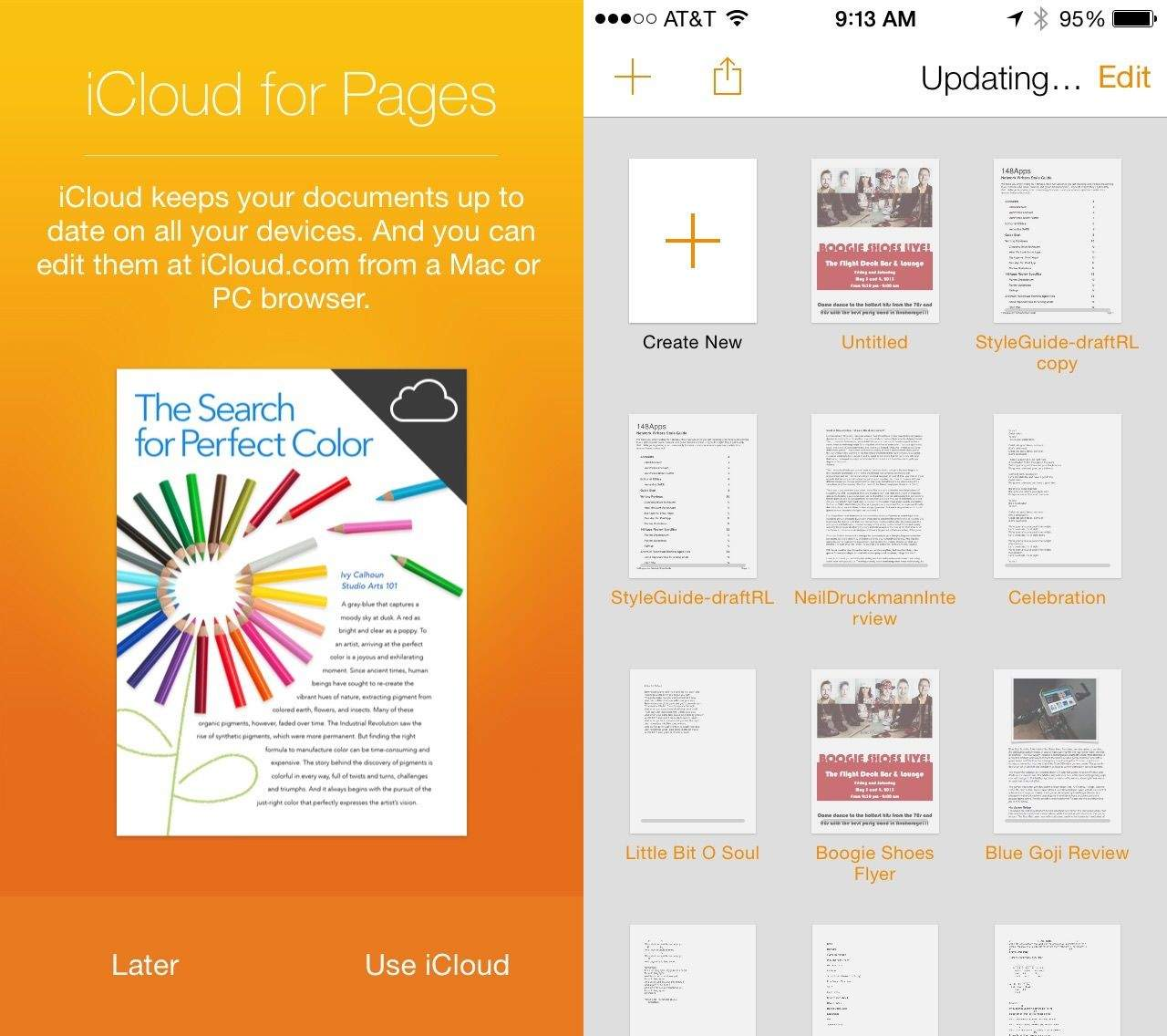 using pages with icloud on mac