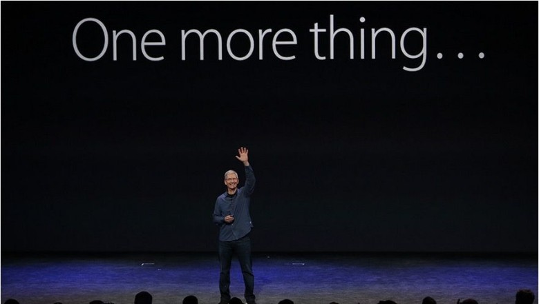 """One more thing"" returned at this year's iPhone keynote. Photo: Apple."