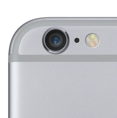 The new iSight camera has Focus Pixels for rapid autofocus. Photo: Apple.