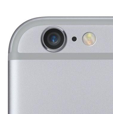 The new iSight camera has Focus Pixels for rapid autofocus. Photo: Apple.