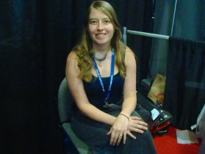 "The ""head-chipmunk"" of KitFox Games, Tanya Short. Photo: Hunter LeFebvre/Cult of Mac"
