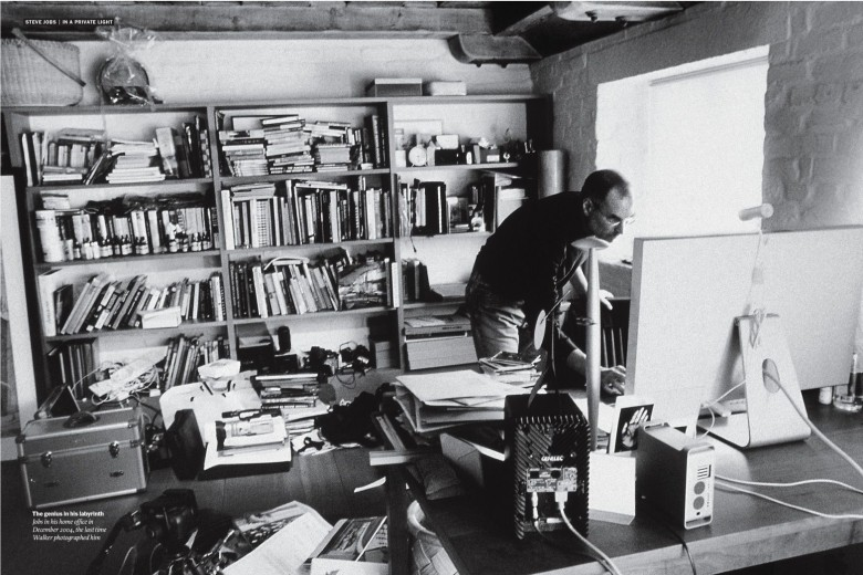 Jobs in his home office. No public photos have surfaced of his office at Apple's headquarters in Cupertino. Photo: Diana Walker