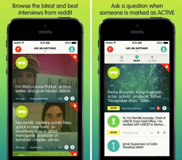 Reddit's official AMA finally brings its hugely popular Ask Me Anything threads to iOS. (Picture: Reddit)