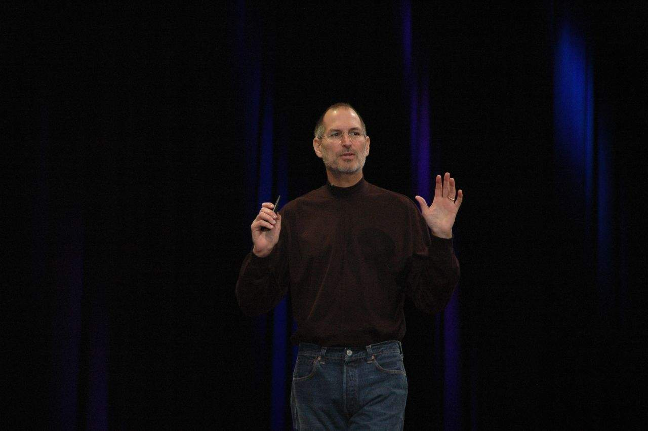 Steve Jobs presenting at Macworld in 2008. Photo: Dan Farber/ Flickr CC