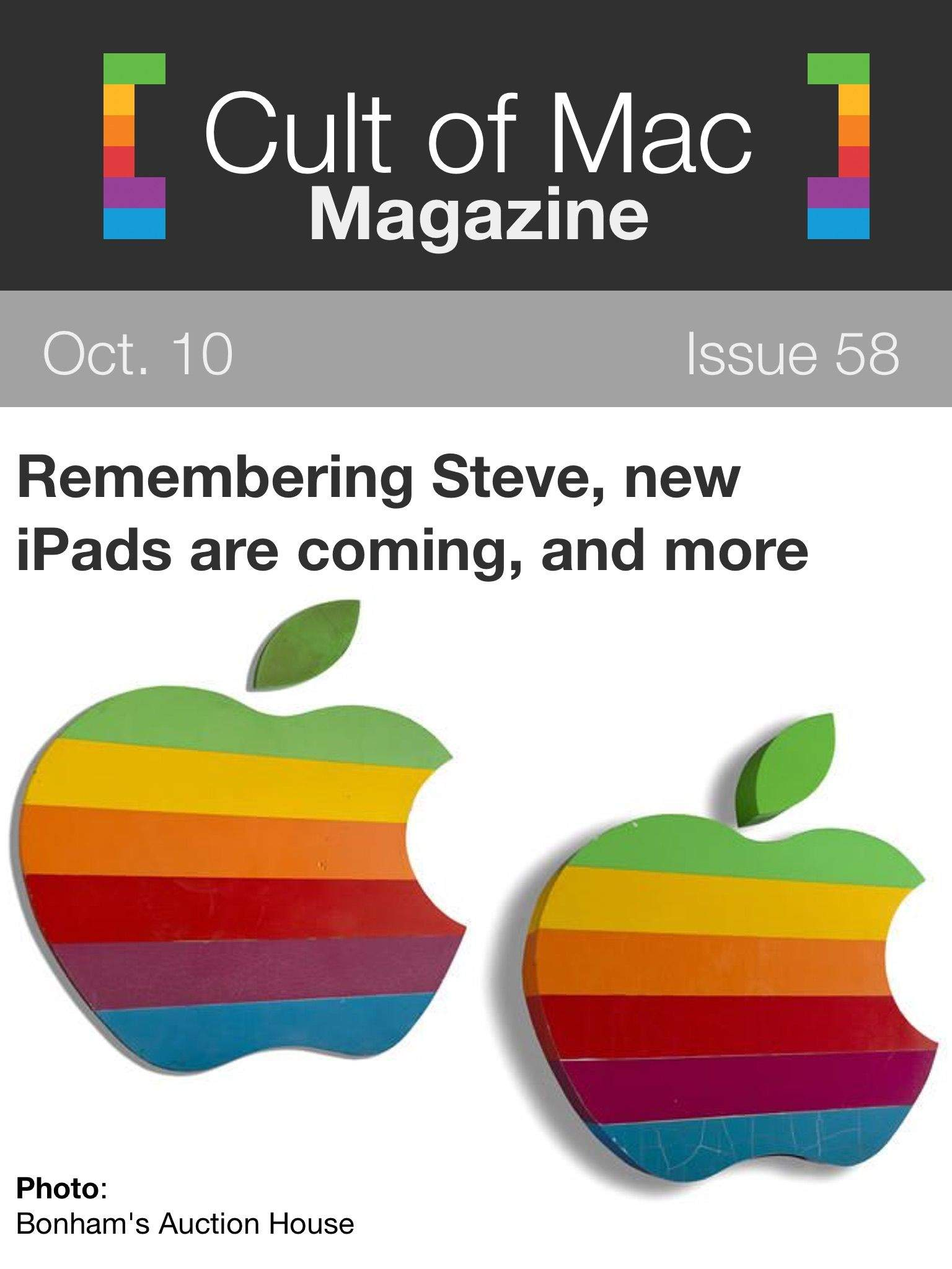 Issue 58 brings some memories of Steve, products we'd like to see updated, and more! Cover: Rob LeFebvre/Cult of Mac