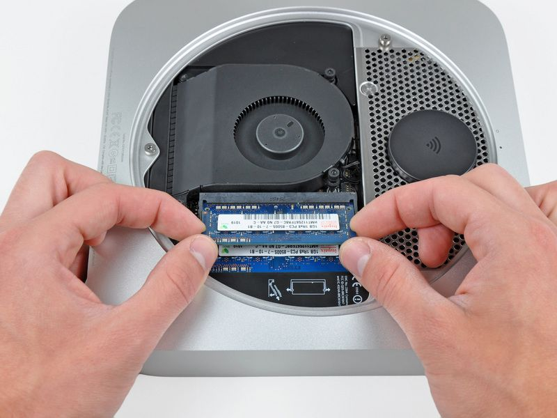 Upgrading the Mac mini's RAM yourself is no longer an option. Photo: iFixit