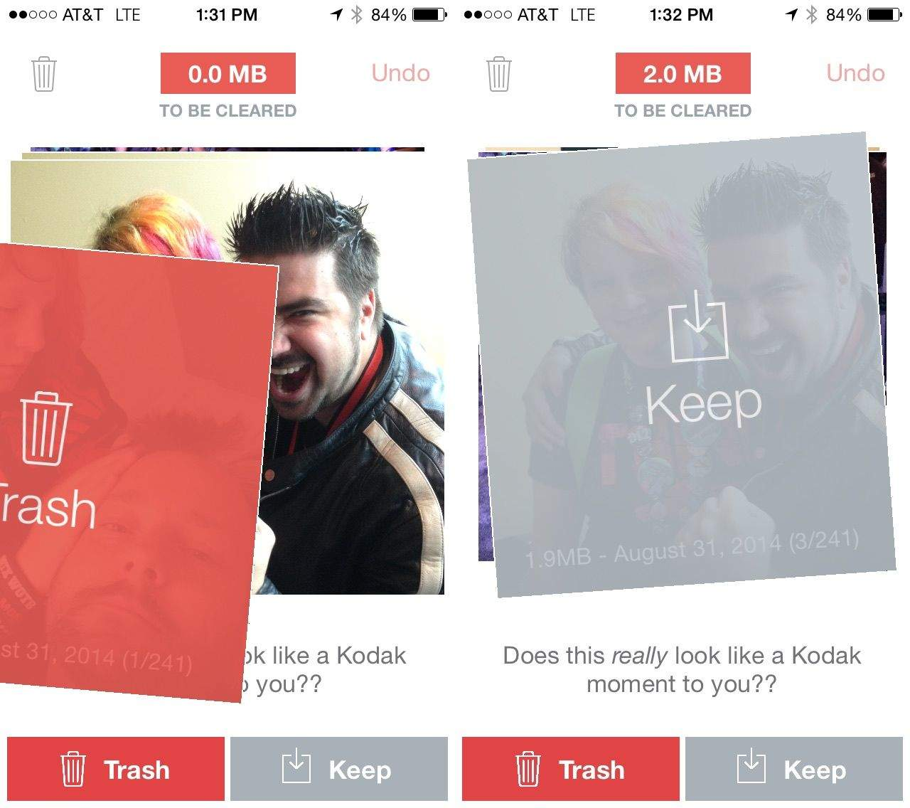 Flic your photos left or right, Tinder-style, for super fast sorting. Screenshots: Cult of Mac