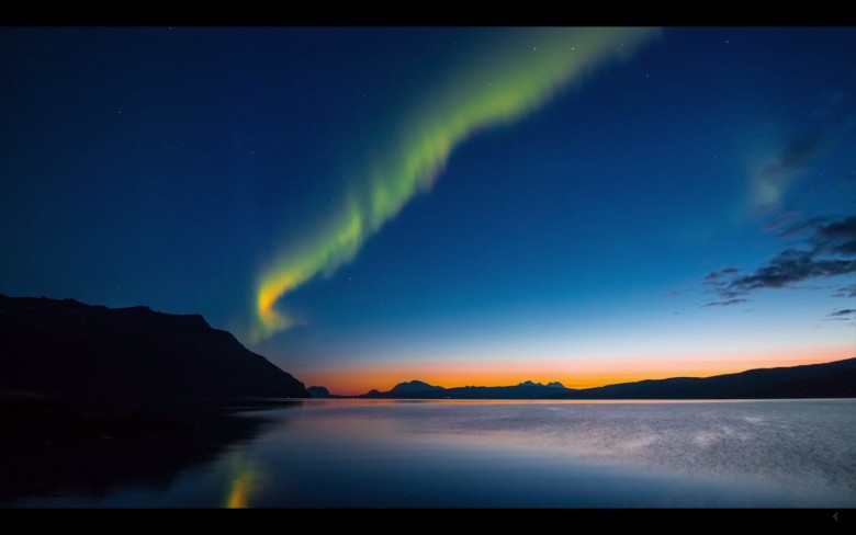 The northern lights over Norway. Screengrab: Cult of Mac