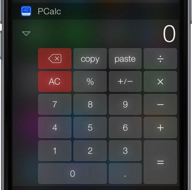 PCal widget