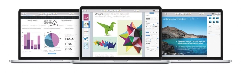 iWork on the web is now free for everyone. Photo: Apple