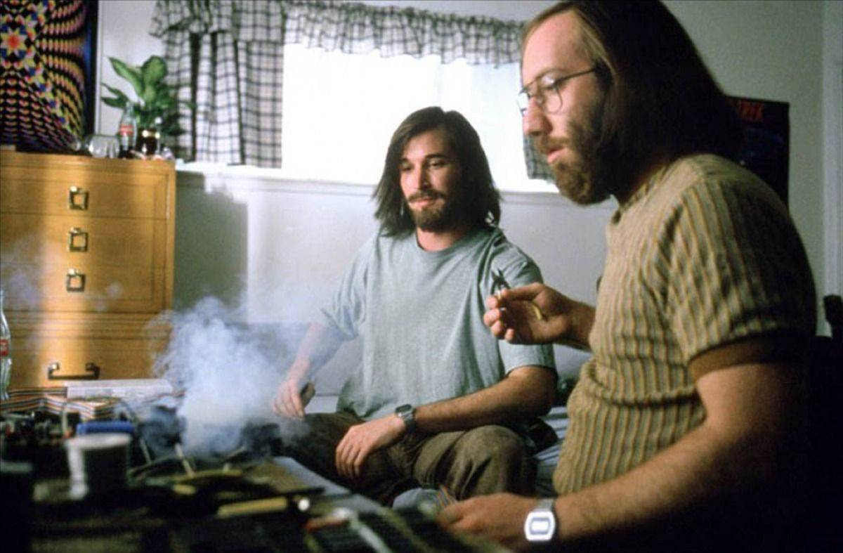 The Two Steves team up to create the Apple-1. Photo: Turner Network Television