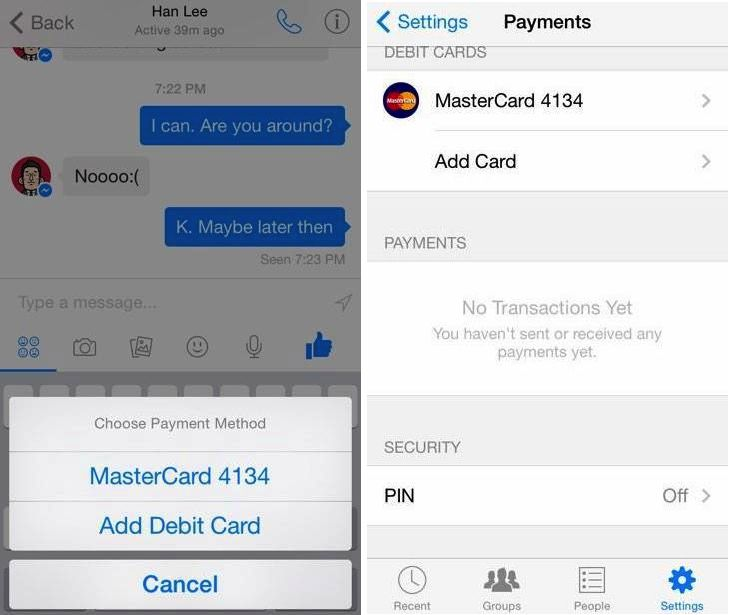 Hidden code in Facebook app reveals friend-to-friend mobile payments