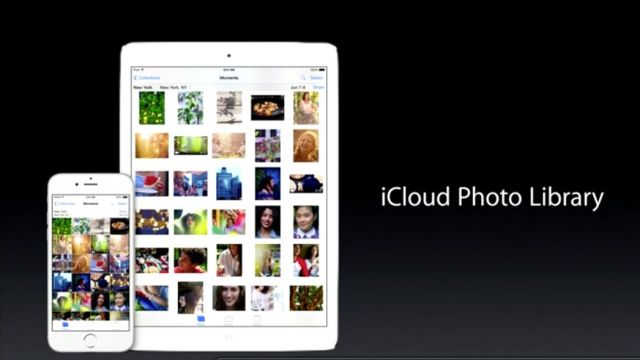 All your photos, on all your devices. Slick. Photo: Apple