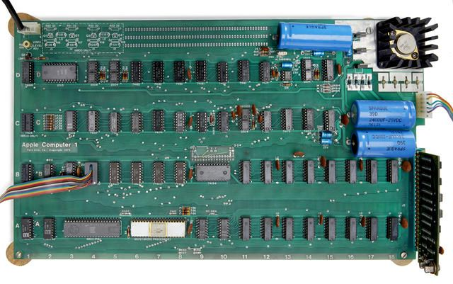 A working motherboard for the Apple I, circa