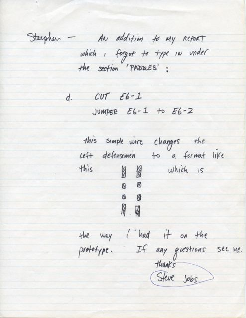 An early memo written by Steve Jobs