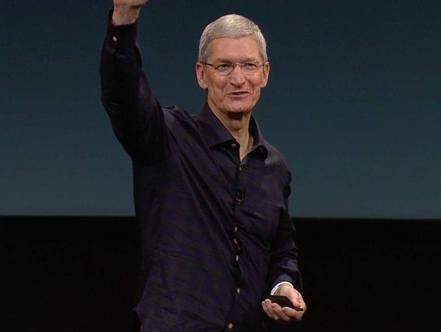 Life is good for Tim Cook in 2015. Photo: Apple