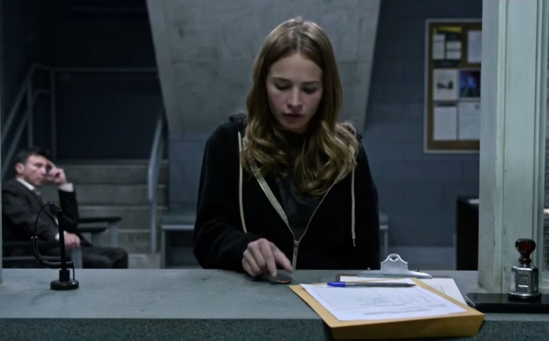 Britt Robertson is given a gift that could change her destiny. Screengrab: Disney