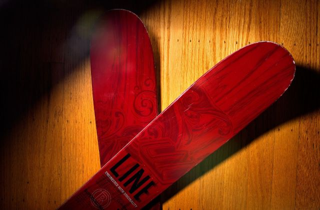Line Supernatural 108 skis. Photo: Jim Merithew/Cult of Mac