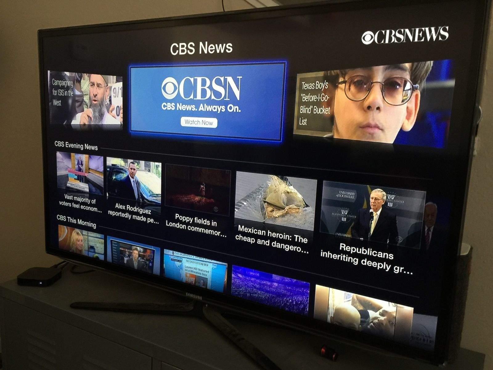 CBS News now streams live on your Apple TV
