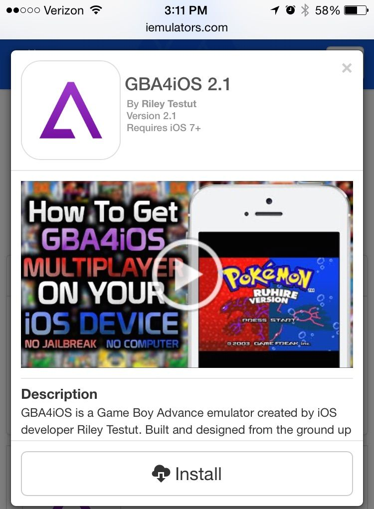 GBA4iOS is back, and works on iOS 8.1, no jailbreak required. Photo: Cult of Mac